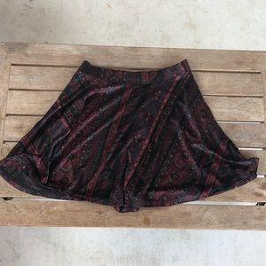 NWOT Hollister Velvet Skater A-Line Skirt